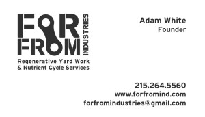 for from industries business card